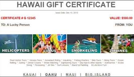 adventuremaui com gift certificates