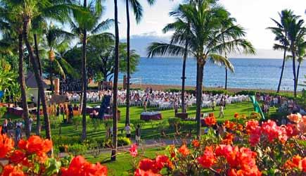 Sheraton Maui Nui Luau Grounds Are Oceanfront At Kaanapali Beach